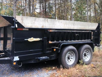 2 way combo spreader tailgate griffin dump trailer