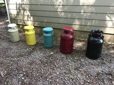 Antique milk cans