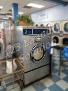 Coin Operated Dexter Stainless Steel Front Load Washer T1200 75 Pound Capacity Used