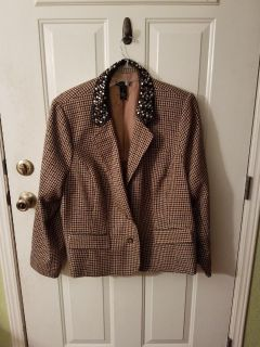 Womens 3X Houndstooth Jacket