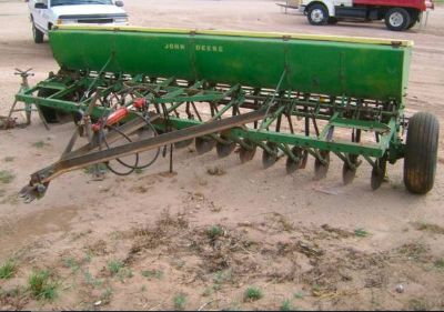 John Deere Grain Drill Ready to Plant