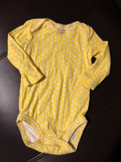 Yellow Flower Long Sleeve Shirt Onesie. Perfect Condition. Size 9 Months