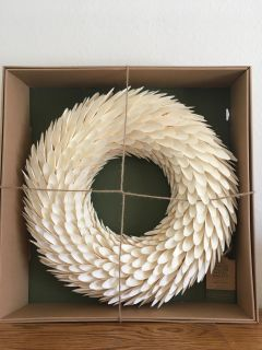 Huge handcrafted carved willow wood wreath (NEW)