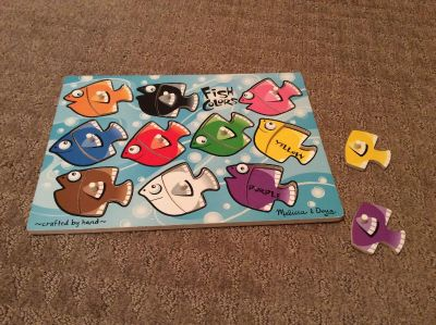Melissa and Doug color fish puzzle in great shape