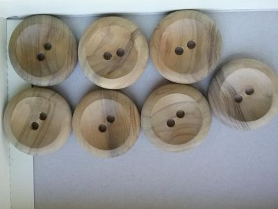 """Large Wood buttons, 1 3/8"""""""