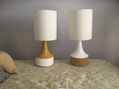 Crate and Barrel mid century style lamps