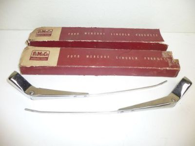 Find NOS 1950 Ford Fairlane 500 Front Wiper Arms LH & RH motorcycle in Livonia, Michigan, United States, for US $69.99
