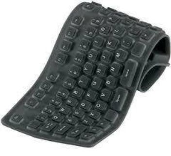 Roll-up, Waterproof Keyboard - NEW - Perfect for Travel