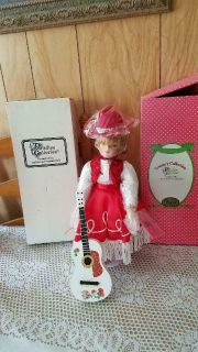 "Paradise Galleries Musical Porcelain Cowgirl Doll! ""RUBY"""
