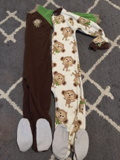 Just One You by Carters Monkey Footie PJs - 5T