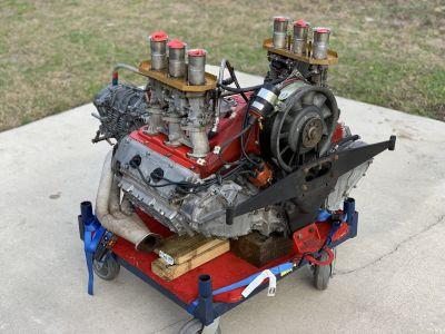 1965 901/01 race engine. Weber 46mm Carbs, 915 trans
