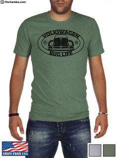 Volkswagen Beetle T-Shirt BUG LIFE Green/Gray XMAS