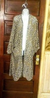 New with tags! Wendy Williams leopard print lightweight open topper!