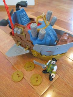 Imaginext Pirate Shark Boat (missing one coin)