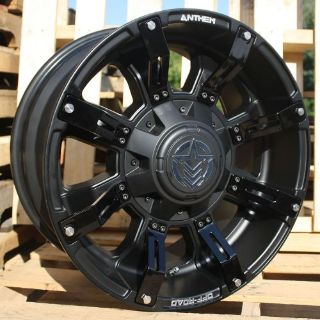 Purchase 18x9 Matte Black Anthem Defender A712 8x180 +18 Wheels T/A KO 305/65/18 Tires motorcycle in Saint Charles, Illinois, United States, for US $2,479.12