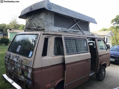 1984 VW Vanagon Country Homes Camper, Solid Projec