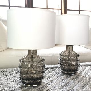 Pair Of Jamie Young Table Lamps. Bedside Lamps. Accent Lamps.