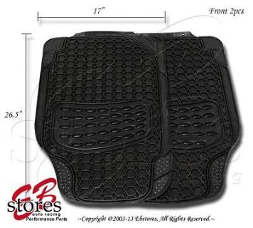 Buy Front and Rear 4pc Heavy Duty Rubber Floor Mat Style#B104 for MId Size Vehicle motorcycle in La Puente, California, US, for US $16.25