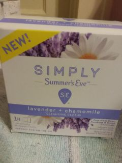 Simply Summer's Eve lavender and chamomile cleansing wipes