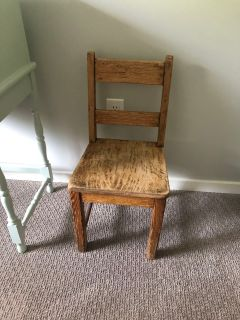 Childs wood chair