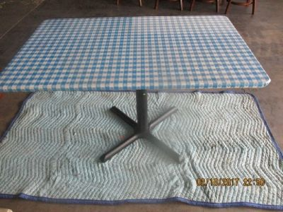 """(10) 48""""x30"""" Res. Tables W/ Blue and White Top RTR#6122275-06"""