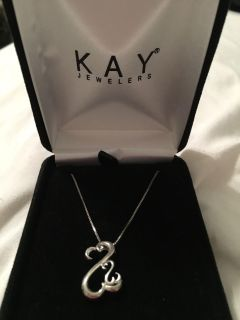 Kay Jewelers Open Heart Necklace Sterling Silver