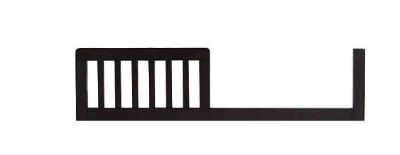NEW-Baby Appleseed Stratford Toddler Guard Rail in Espresso