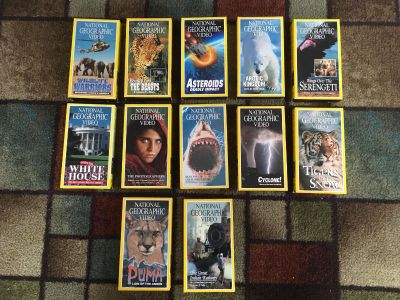 12 National Geographic video tapes.