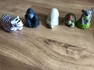 Zoo talkers figures. Same size as little people and same feel to them .