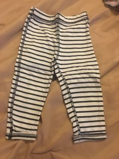Carters reversible cotton pants other side is gray 12 months