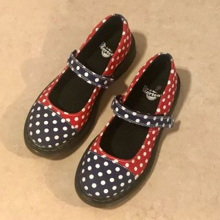 Super Cute Dr. Martens Polka Dot Mary Jane Shoes Youth Size 3 Like New