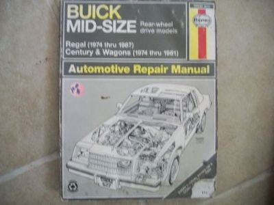 Find Haynes 19030 (627) Repair Manual BUICK REGAL 1974-87 CENTURY WAGON 1974-81 motorcycle in Golden Valley, Arizona, United States, for US $4.71