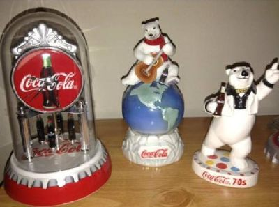 13pc Coca-Cola Polar Bear Figurine Collection