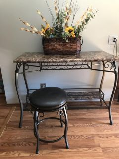 Bar table with two stools. Was 200 selling $75 or best offer.