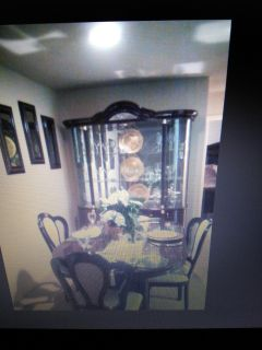 China Closet, table, Hutch and two chairs