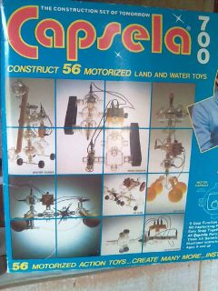 Vintage Capsela 700 (56 motorized land and water toys)