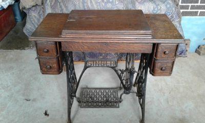 very old singer sewing machine