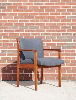 Vintage Upholstered Teak Side or Accent Chair