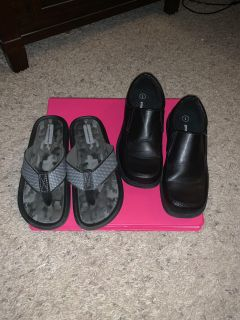 Boys shoes size 1 both