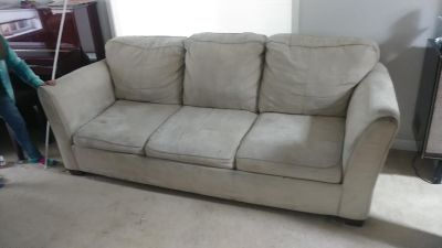 FREE Micro fibre couch with hidabed!