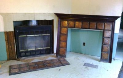 Fireplace Insert with Blower (No Fireplace Includes Chimney  Wall)