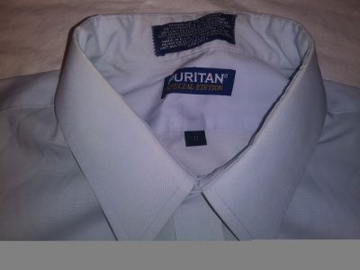 Puritan button up spot on it $2