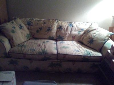 Sofa bed& loveseat ( moving sale)