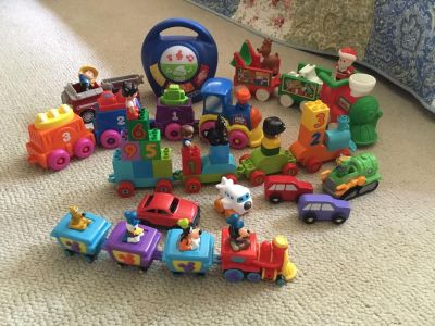 Toddler Toy Lot Trains cars airplane