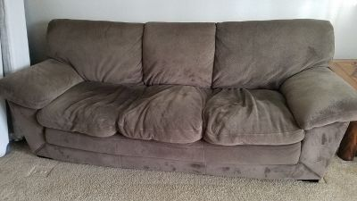 Act fast! Microfiber Couch (Free) and chair (offer)