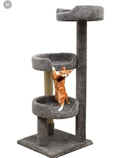 Carpet kitty large tower color tan obo