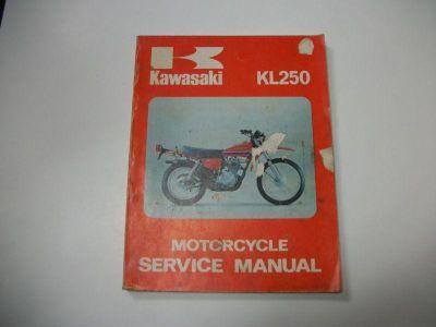 Buy Kawasaki Service Manual KL250 1976 1977 KL250 OEM Factory motorcycle in Colorado Springs, Colorado, US, for US $26.95