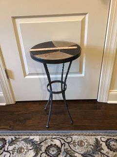 EUC wrought iron table with ceramic pieced top