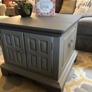 Solid wood Coffee Table, 2-Tone gray