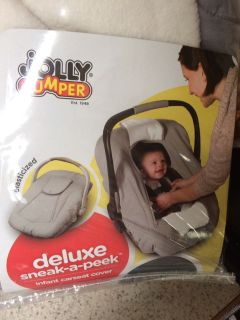 Infant car seat cover for cold and inclement weather